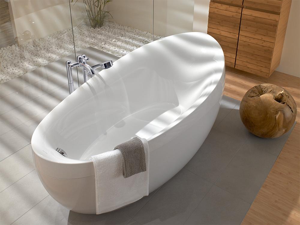 Овальные ванны в интерьере фото